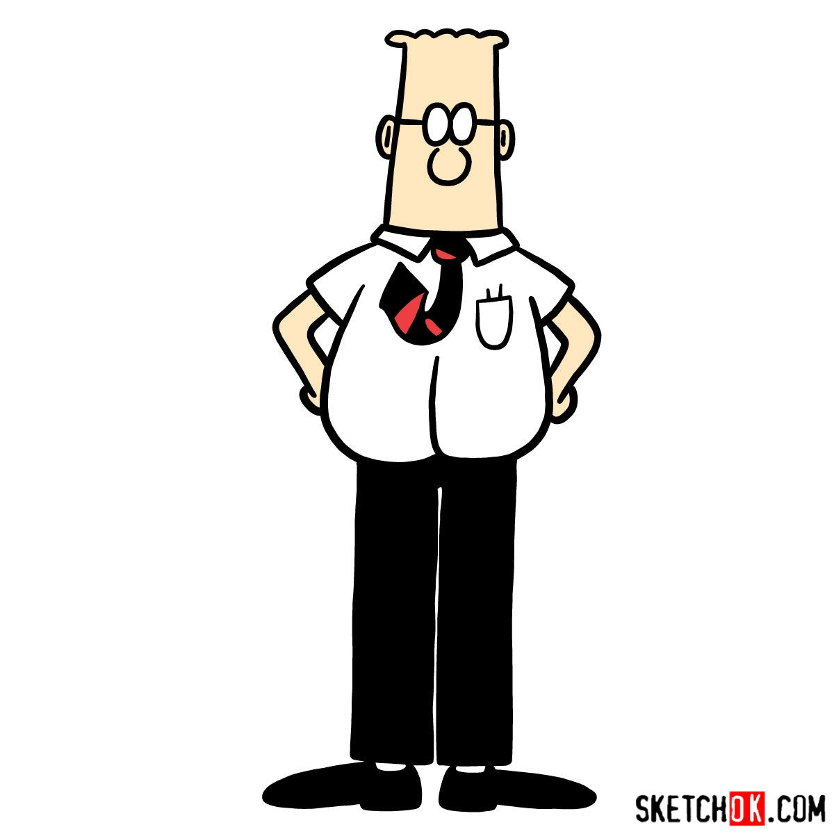 1200x1200 How To Draw Dilbert
