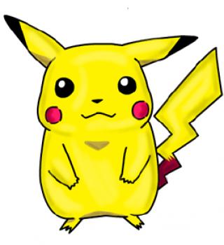 320x350 How To Draw Pikachu, Step