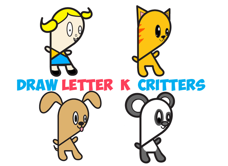737x538 Huge Guide To Drawing Cartoon Characters From Lowercase Letter K