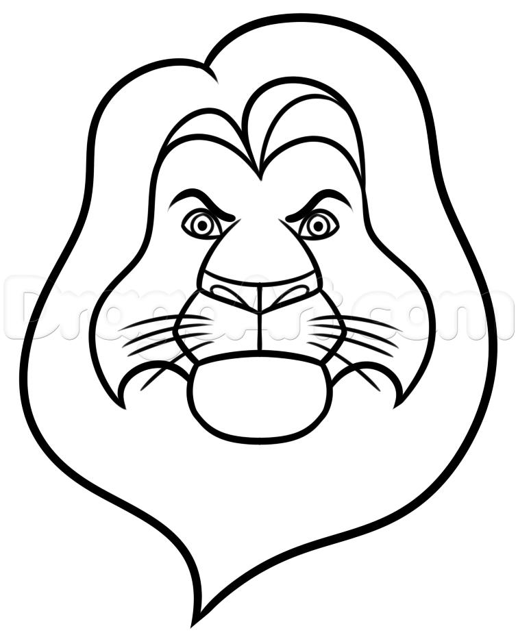 756x927 How To Draw Mufasa Easy, Step