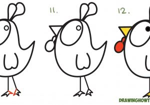 300x210 Easy Chicken Drawing How To Draw A Cartoon Chicken