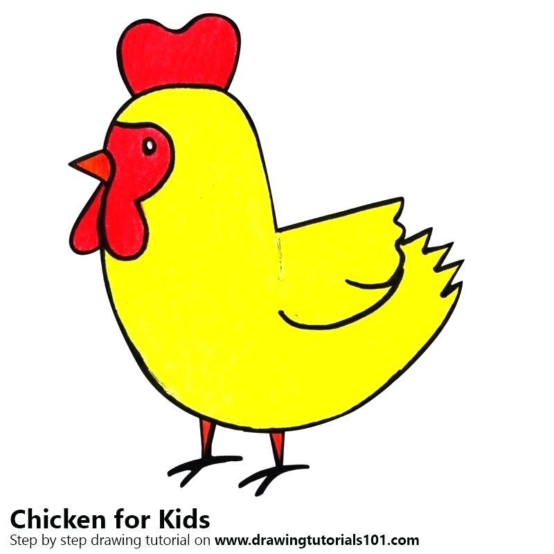 800x800 How To Draw A Chicken How To Draw A Chicken Draw Chicken Cartoon