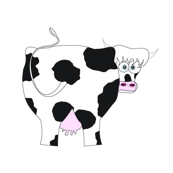 600x600 cute cow drawings cute cow cartoon sitting cute drawings