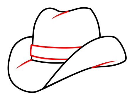 450x350 drawing a cartoon cowboy hat hobby drawing hats, cowboy hat