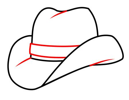 450x350 drawing a cartoon cowboy hat hobby drawing hats, cowboy hat