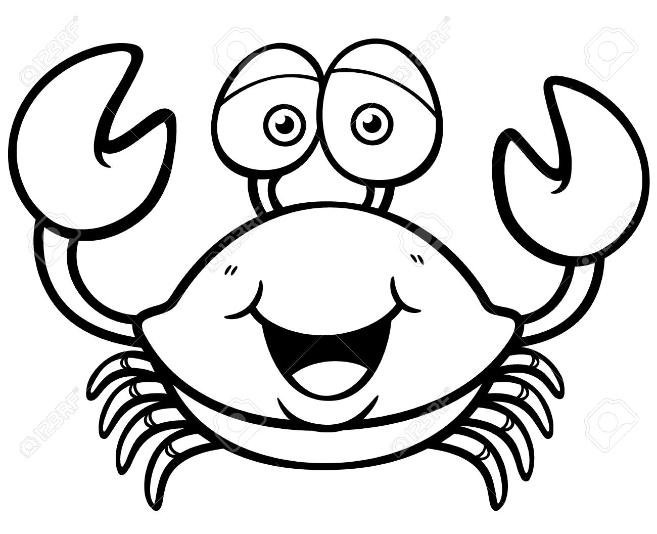 Cartoon Crab Drawing