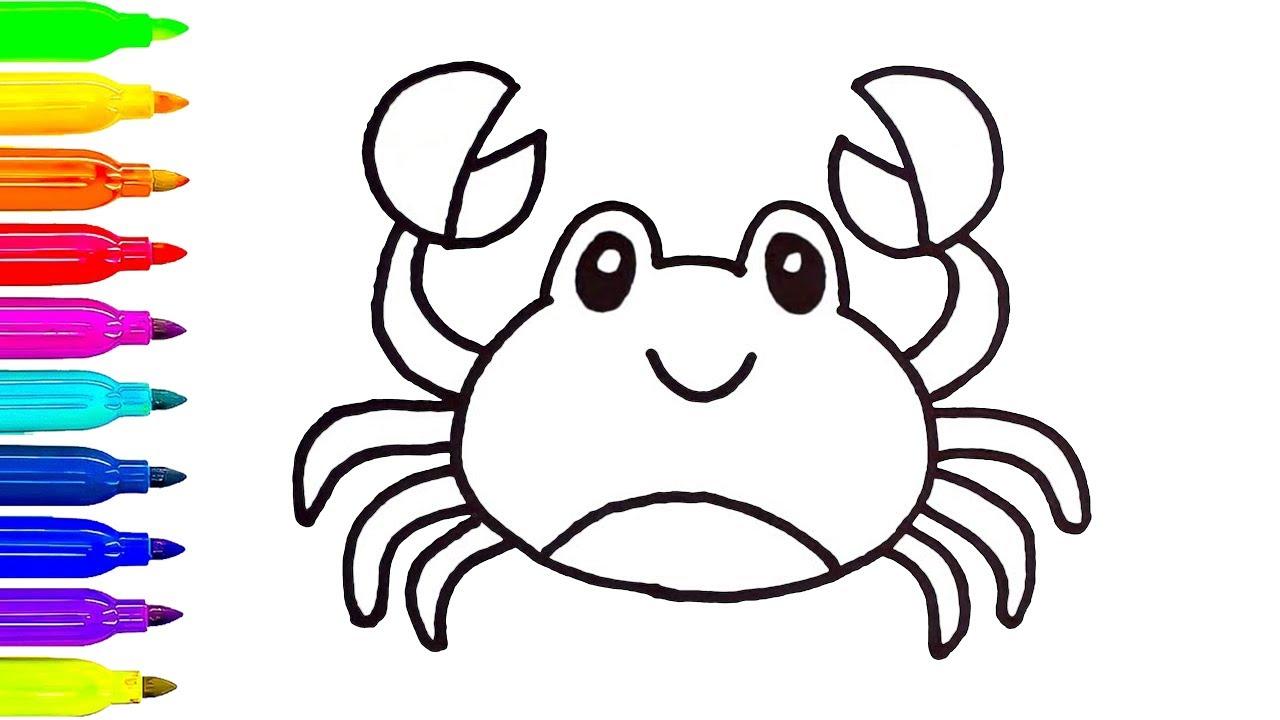 1280x720 crab cartoon drawing and draw a crab cartoon crab drawing