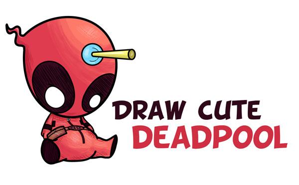 600x372 How To Draw Cute Cartoon Chibi Deadpool Easy Step