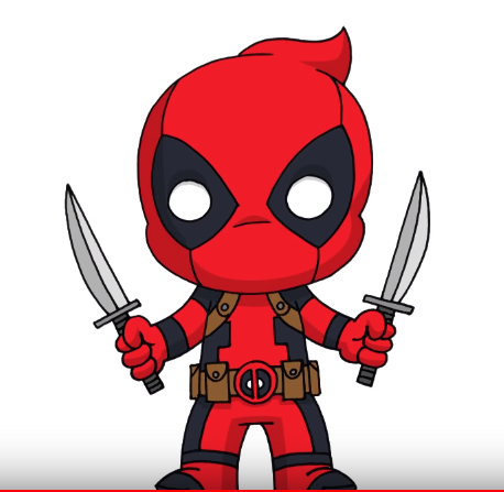 458x447 How To Draw Deadpool From Marvel Comics Step Y Step