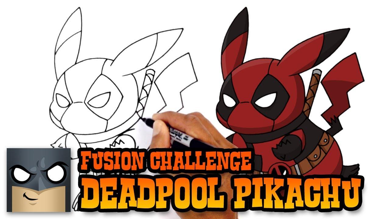 1280x720 How To Draw Pikachu Deadpool Art Challenge