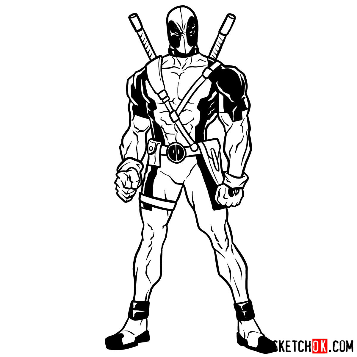 1200x1200 How To Draw Deadpool In Full Growth