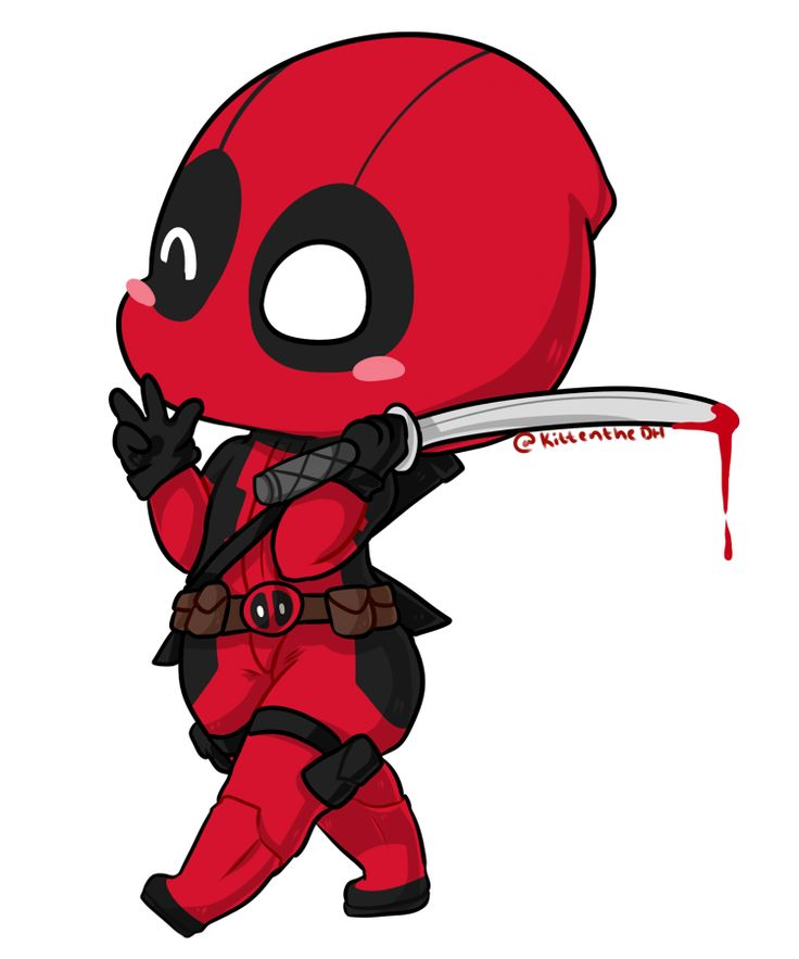 736x883 How To Make Deadpool Drawing
