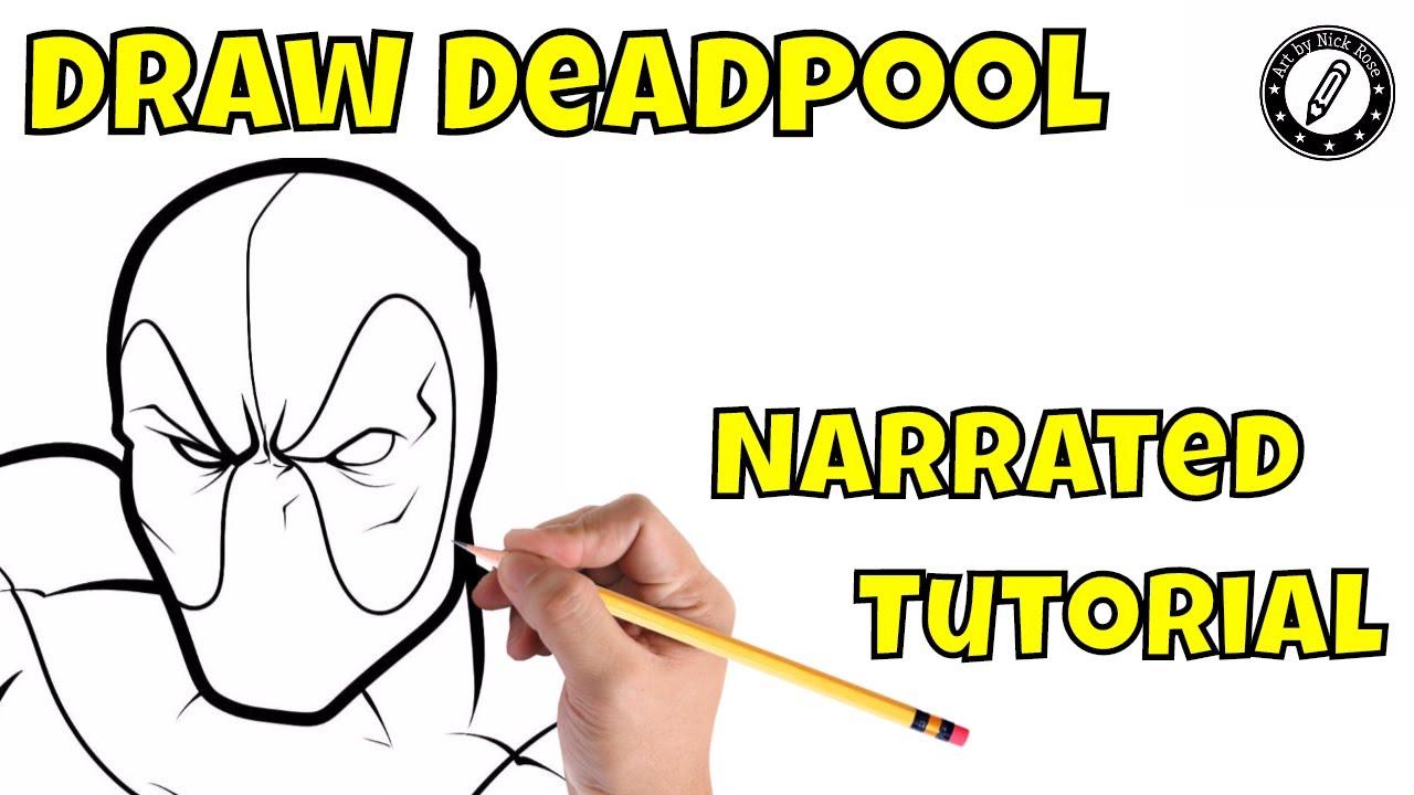 1280x720 Learn To Draw Deadpool Cartoonstep