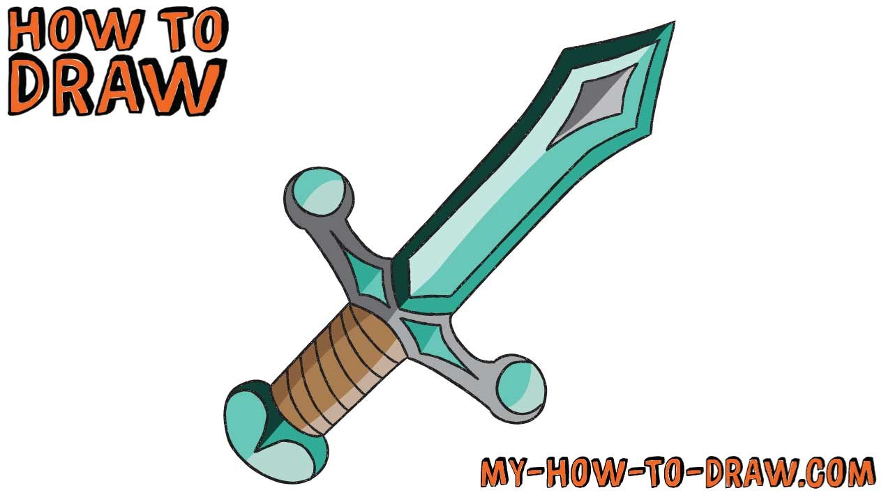 1280x720 cartoon sword drawing and cartoon sword drawing how to draw
