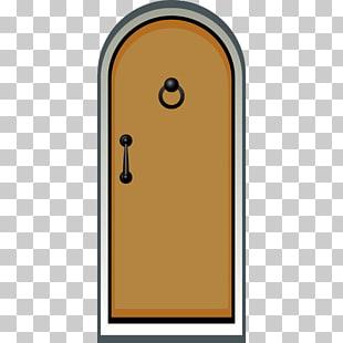 310x310 drawing door cartoon, door, brown and grey door illustration png