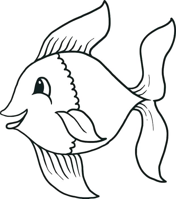 619x700 Fish Cartoon Drawing Cartoon Fish Drawing Pictures