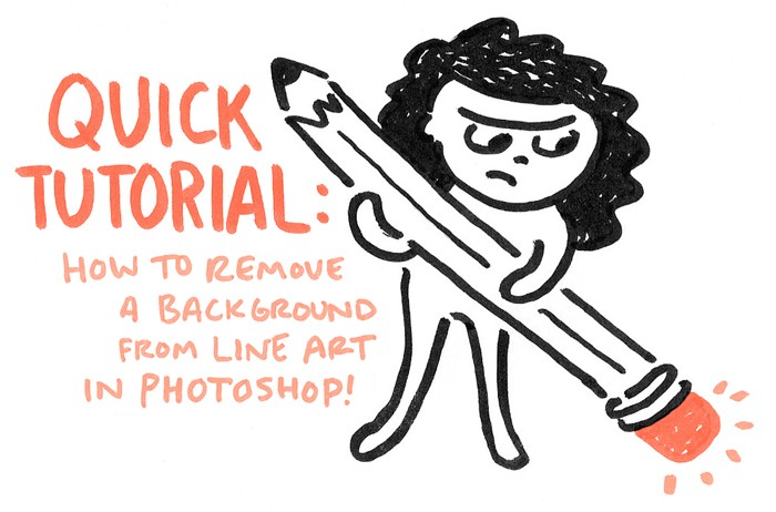 700x462 Quick Tutorial How To Remove A Background From Line Art In Photoshop