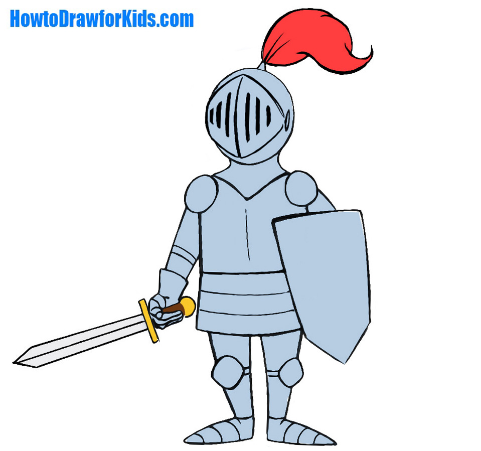 959x899 How To Draw A Knight For Kids How To Draw For Kids