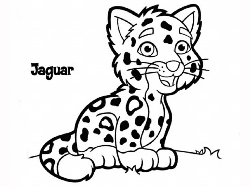 1024x768 Jaguar Drawing For Kids And Easy Jaguar Drawing Jaguar Cartoon