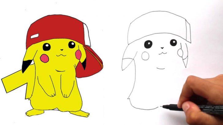 728x410 Pikachu Drawing Easy Step