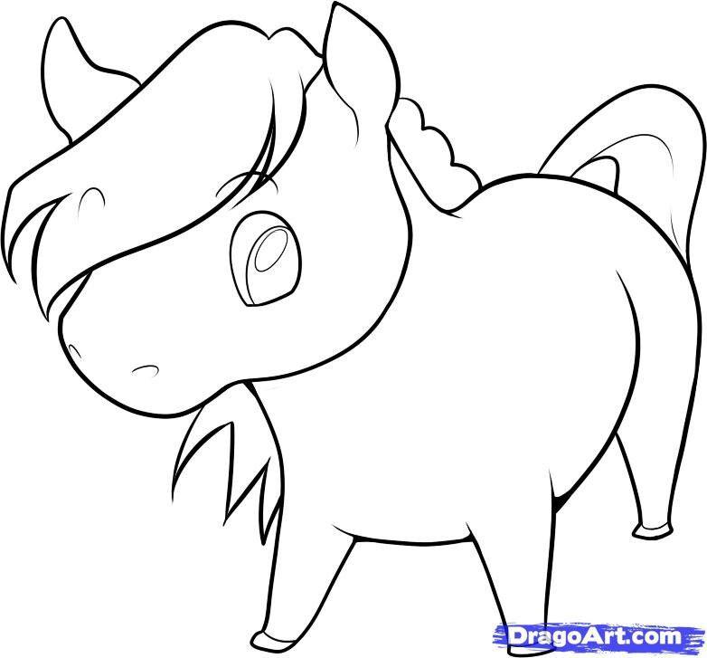 782x727 cute horse drawing cute horse easy cartoon drawings, horse
