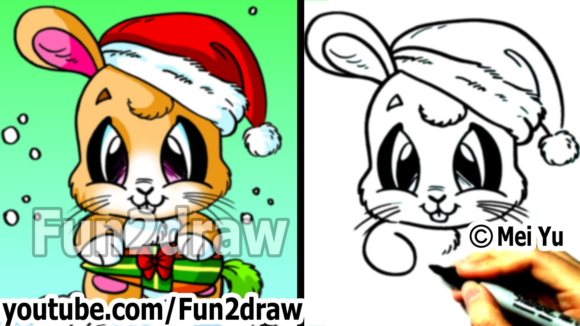 1920x1080 How To Draw Santa Bunny For Christmas