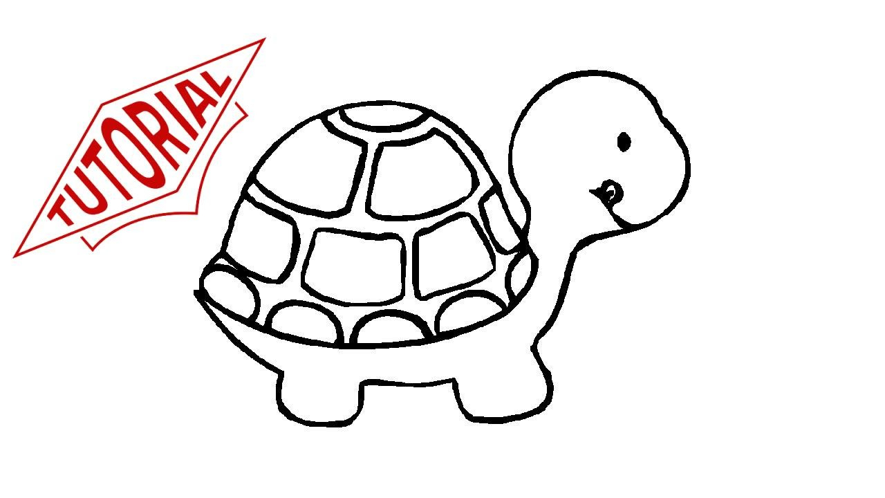 1280x720 Turtle Cartoon Drawing And How To Draw A Turtle Easy Step