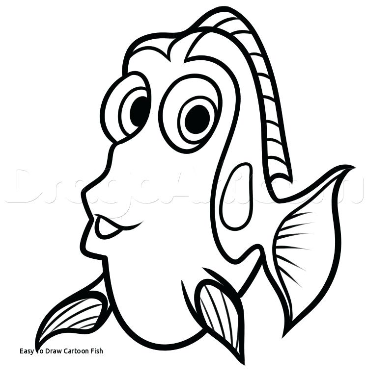 745x765 Easy Drawing Of Fish