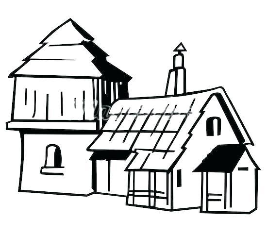 550x486 Cartoon Farm House Agriculture A Small Cartoon Farmhouse