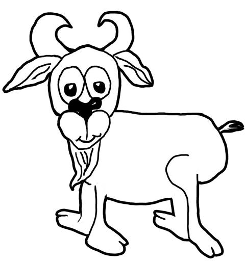 480x516 How To Draw Cartoon Goats Farm Animals Step