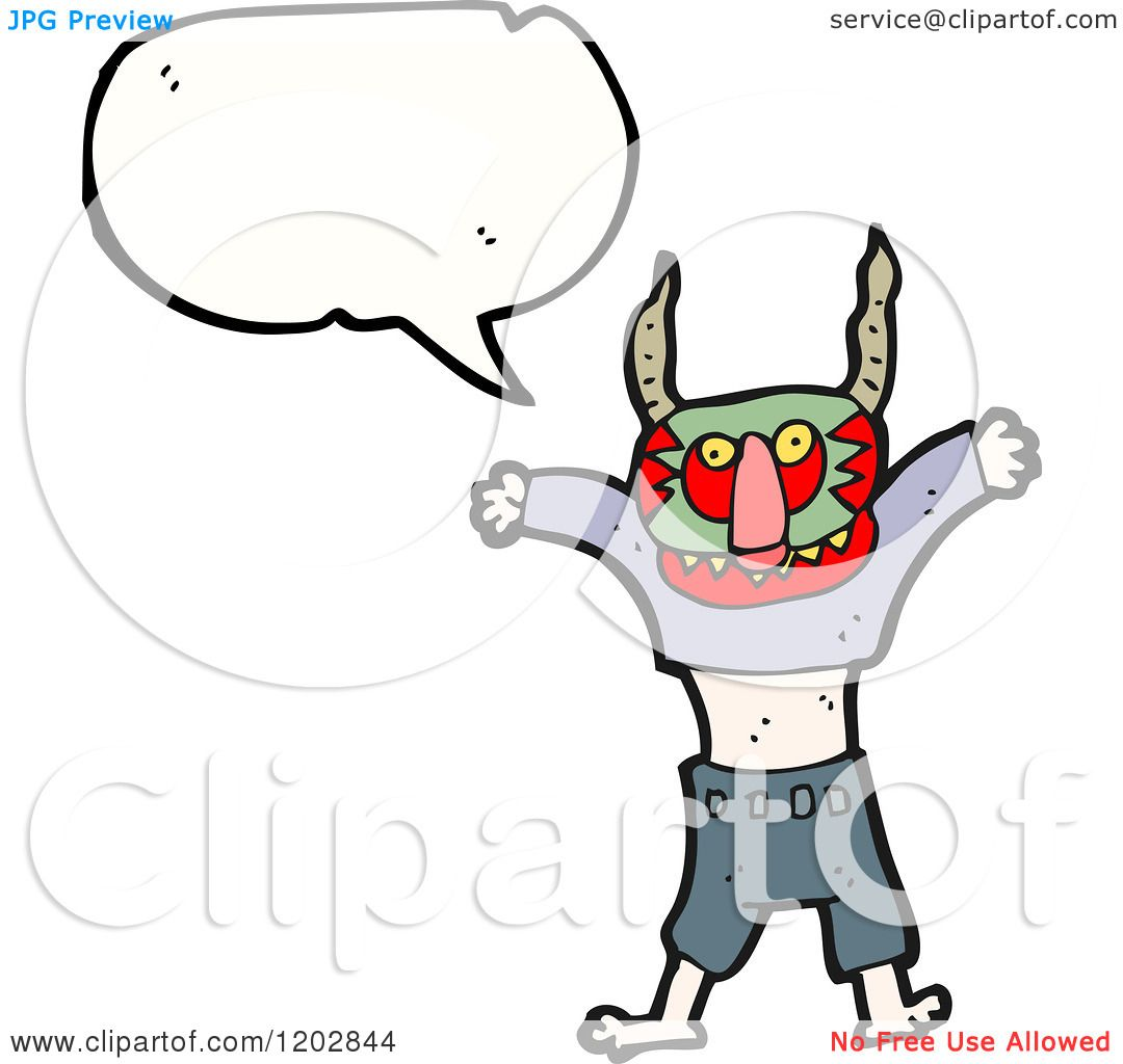 1080x1024 Cartoon Of A Person In A Witch Doctor Mask Speaking