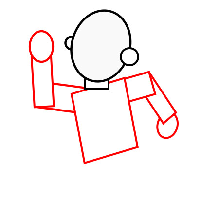 450x450 How To Draw A Person Running How To Draw A Cartoon Person Running