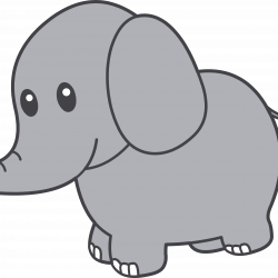 250x250 Cartoon Drawing Of A Person Cute Elephant With Flowers Baby