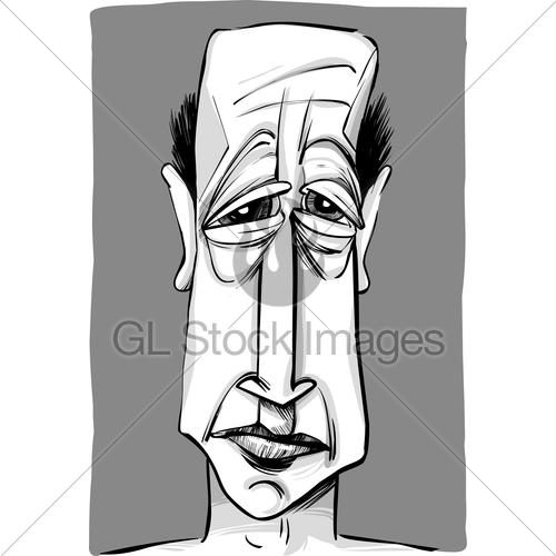 500x500 Old Man Caricature Gl Stock Images