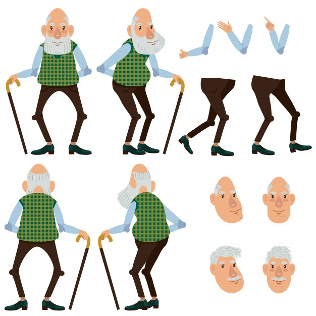 626x626 Old Man Vectors, Photos And Free Download