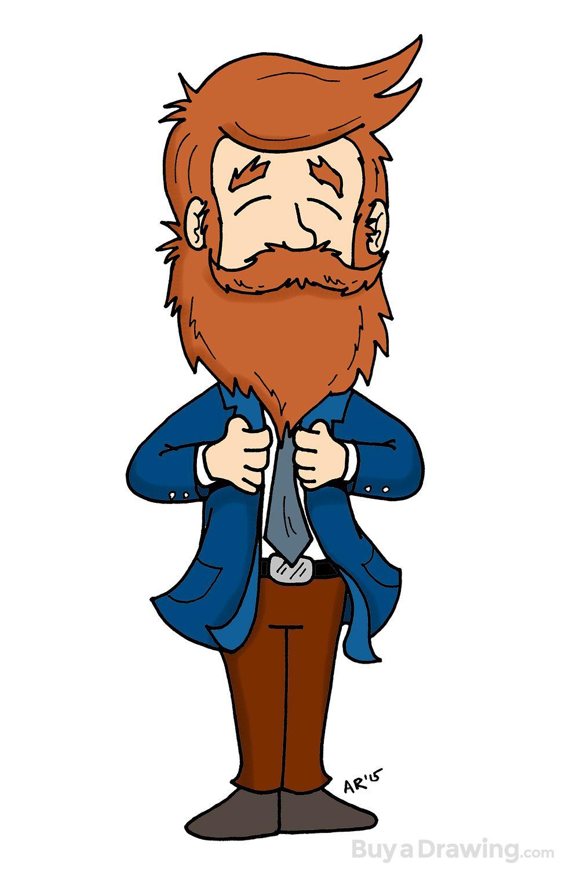 970x1500 Quick Drawing Of A Beardsman Beard On!
