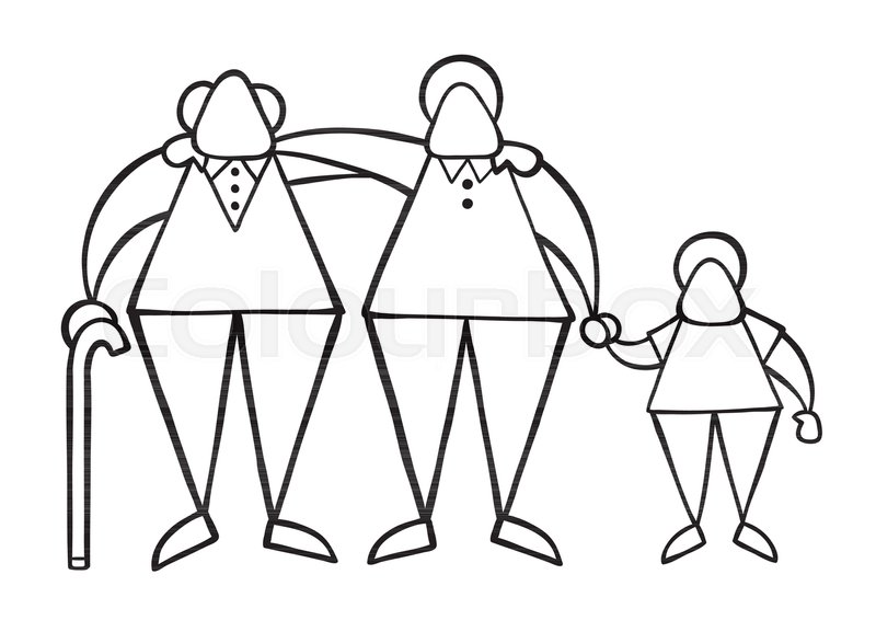 800x577 Vector Illustration Cartoon Old Man Stock Vector Colourbox