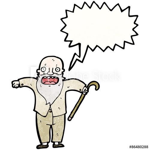 500x500 Cartoon Old Man Shouting