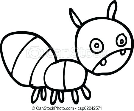 450x372 ant drawing ant cartoon printable ants coloring pages for kids ant