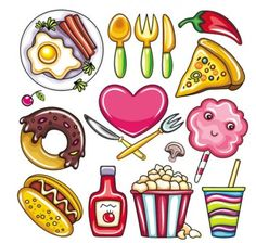 236x224 top food cartoons images food cartoon, cartoons, delicious food