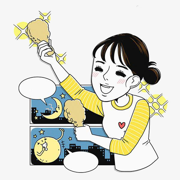 600x600 Cartoon Girl Food, Cartoon Clipart, Food Clipart, Cartoon Png