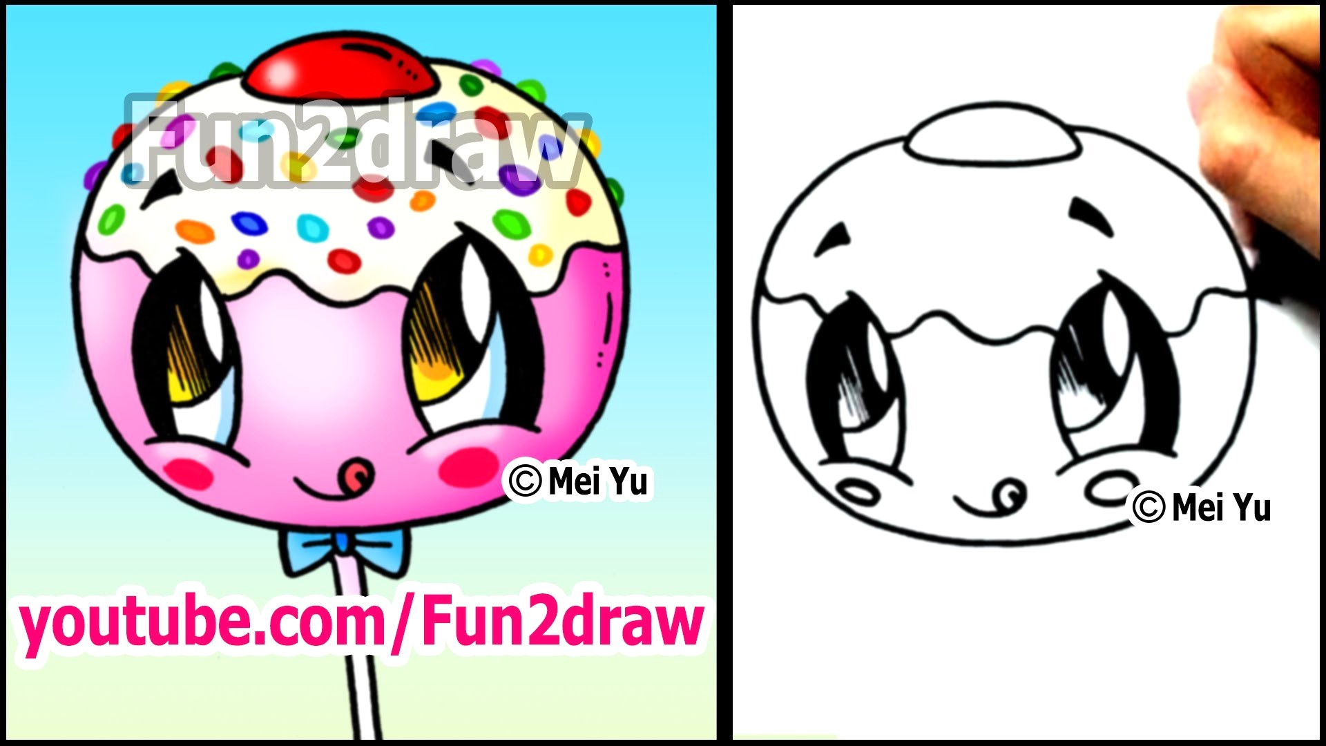 1920x1080 Draw This Super Cute Cake Pop And Eat It Youtube Drawings
