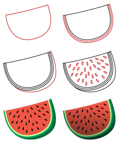 500x599 How To Draw Cartoon Food