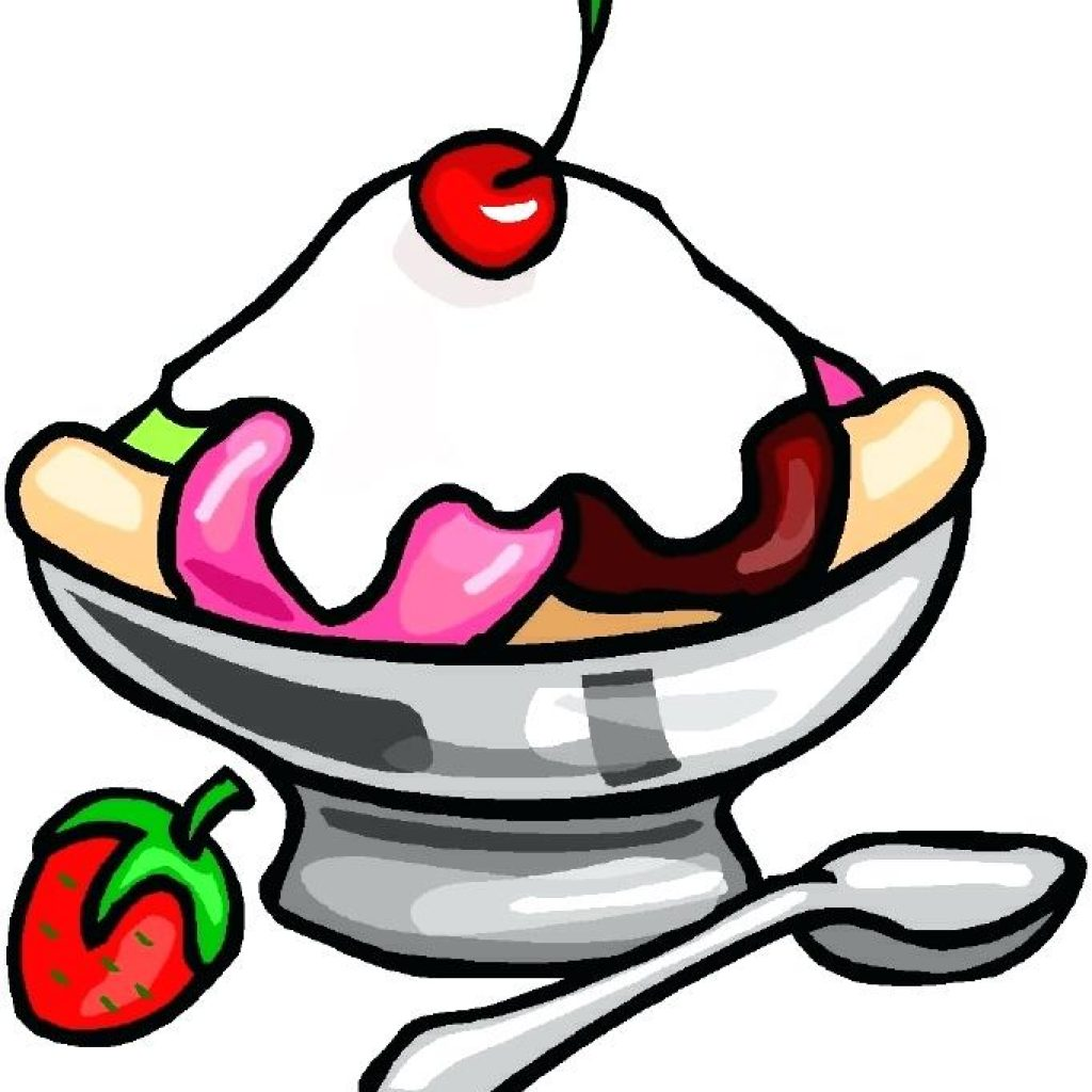 1024x1024 Ice Cream Sundae Cartoon Food Clipart House Clipart Online Download