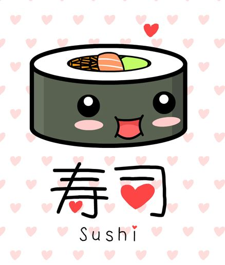438x516 Kawaii Things Sushi Drawing