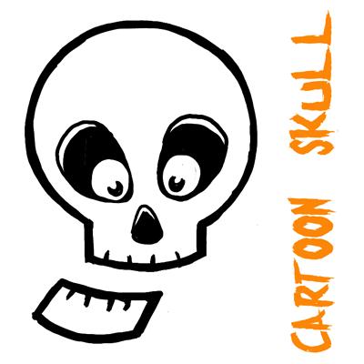 400x400 Halloween Cartoon Drawings How To Draw Silly Cartoon Skulls