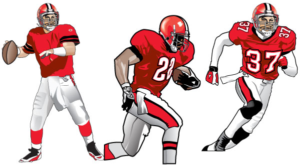 600x331 Drawing Of A Football Player Clip Art Clipartix