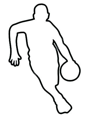 308x406 Football Player Outline Cartoon Vector Outline Illustration