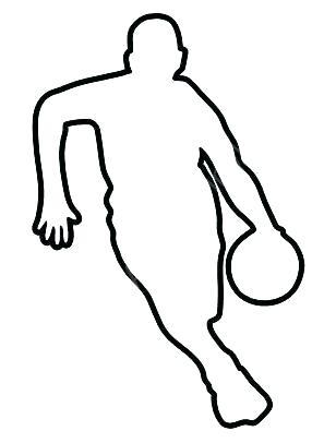 308x406 Football Player Outline Cartoon Vector Outline Illustration