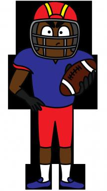215x382 Football Players Drawings